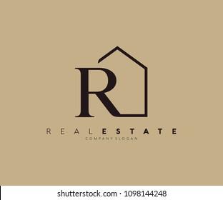 R Letter Real Estate Logo Design
