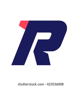 R letter run logo design template. Vector sport style typeface for sportswear, sports club, app icon, corporate identity, labels or posters.