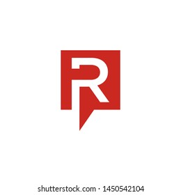 R letter vector logo abstract