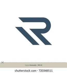 R Letter vector Logo Template
