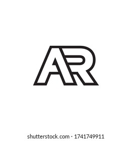 A R lines letter lines logo design vector
