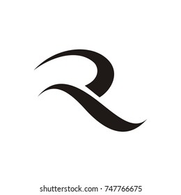 R logo design template vector