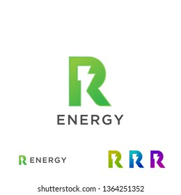 R logo Energy Electricity Green