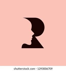 R logo letter R initial R combination IT technonolgies