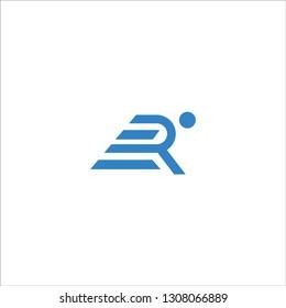 R logo run abstract