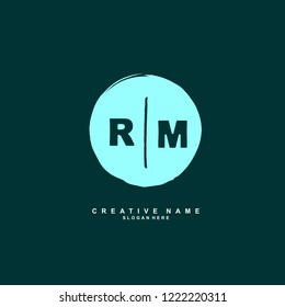 R M RM Initial logo template vector