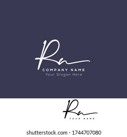 R N RN R R RR Initial letter handwriting and signature logo.