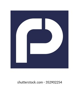 r and p logo vector.