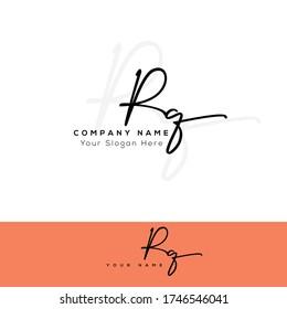R Q RQ Initial letter handwriting and signature logo.