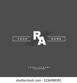 R A RA Initial logo template vector. Letter logo concept