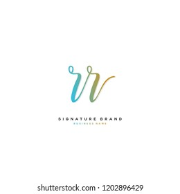 R R RR Initial letter handwriting and  signature logo concept design