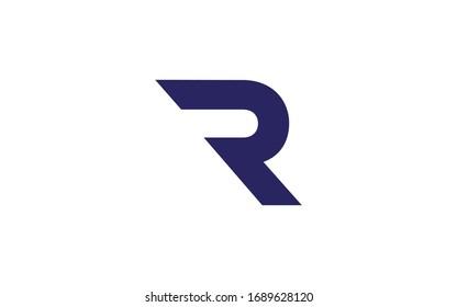 R or RR Uppercase Letter Initial Logo Design Template Vector Illustration