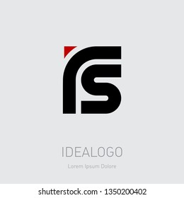 R and S initial logo. RS initial monogram logotype. Vector design element or icon.