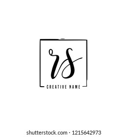 R S RS Initial logo template vector