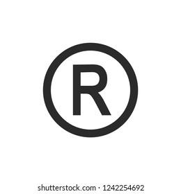 R symbol copyright vector image