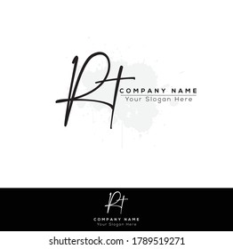 R T RT Initial letter handwriting and signature logo. Beauty vector initial logo .Fashion, boutique, floral and botanical