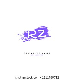R Z RZ Initial abstract logo concept vector