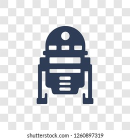 R2D2 icon. Trendy R2D2 logo concept on transparent background from Cinema collection