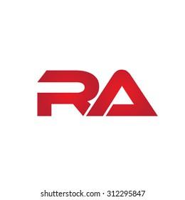 RA company linked letter logo