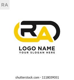 RA initial logo template vexctor