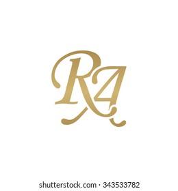 RA initial monogram logo