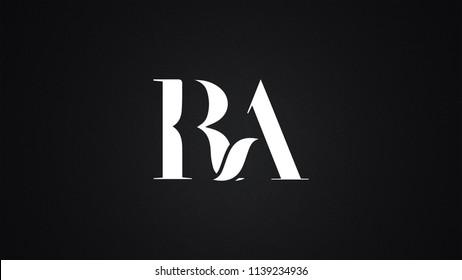 RA Letter Logo Design Template Vector