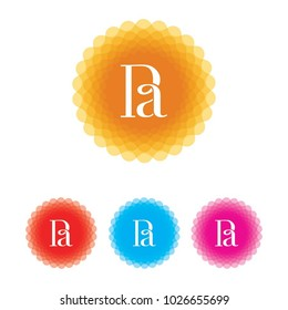 Ra letter logo design temple, can be used for organic company, clothing company, woman clothing brand logo.