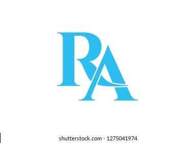 Ra logo design vector