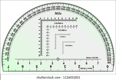 RA Protractor - Mils Map Reading