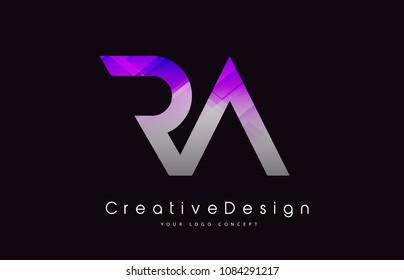 RA R A Letter Logo Design in Black Colors. Creative Modern Letters Vector Icon Logo Illustration.