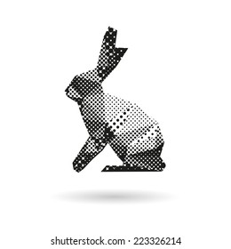 Rabbit abstract isolated on a white backgrounds, vector illustration