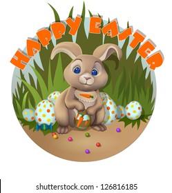 Rabbit or bunny / Set of bunny illustrations