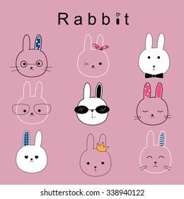 rabbit cartoon vector
