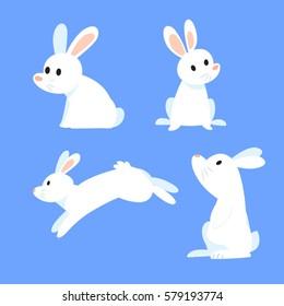rabbit cartoons set 2