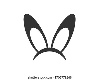 Rabbit ears icon. Rabbit ears vector illustration. Easter icon.