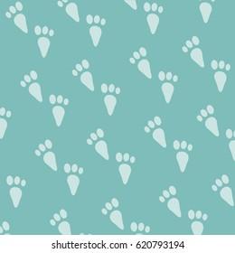 rabbit footprints pattern background. vector illustration