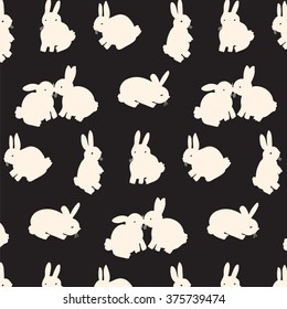 rabbit hare animal graphic silhouette pattern