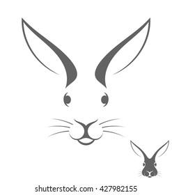 Rabbit head. Logo. Vector illustration