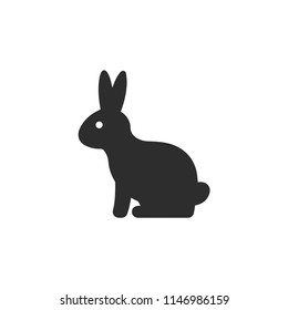 Rabbit icon. Animal symbol. Linear style sign for mobile concept and web design. Rabbit symbol logo illustration. vector graphics - Vector.