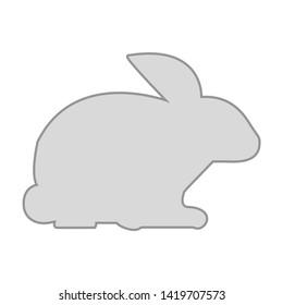 rabbit icon. flat illustration of rabbit vector icon for web