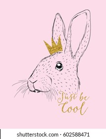 rabbit illustration for apparel
