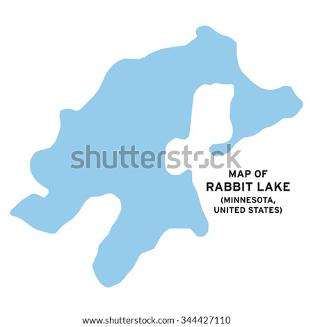 Rabbit Lake Minnesota United States Map Vector Stock Vector (Royalty ...