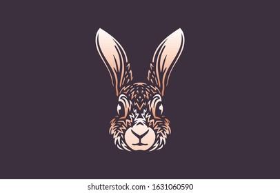 Rabbit logo colors on dark background