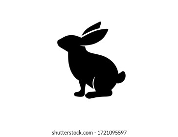 Rabbit logo isolated on white background