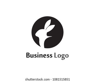 Rabbit Logo template vector icon design