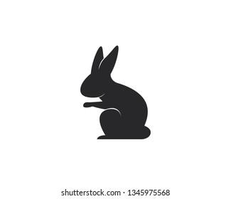 Rabbit Logo template vector icon illustration design