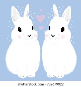 Rabbit love heart
