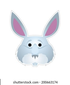 Rabbit mask  for children's masquerade