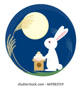 Rabbit in Moon Festival day