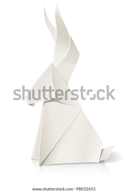 Origami Paper Art. Red Horse On A White Background Stock Photo ... | 620x416